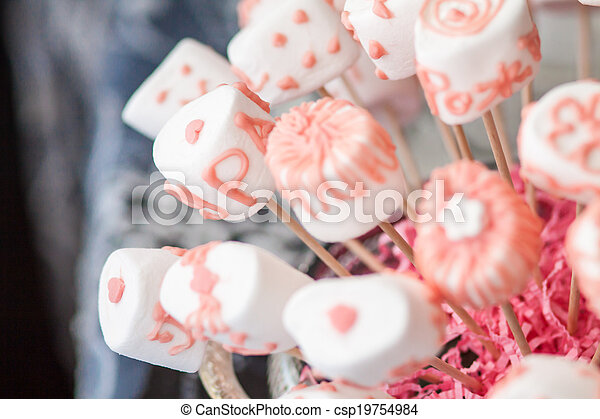 bouquet of pink marshmallows