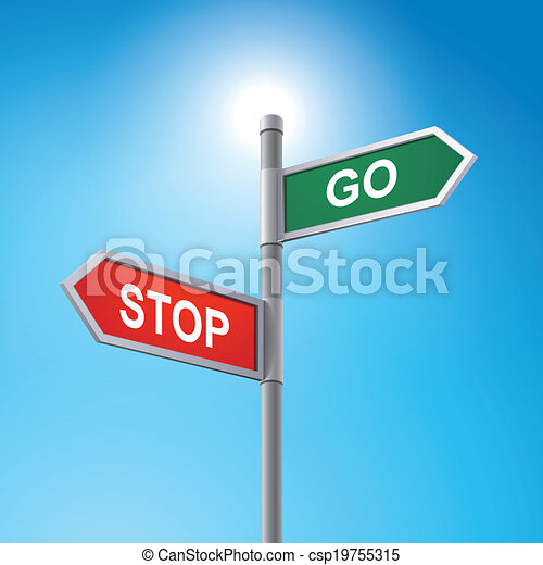 Go Sign Icon Vector Clip Art...