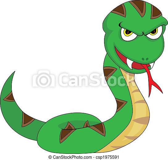 Cute Menacing Looking Snake - csp1975591
