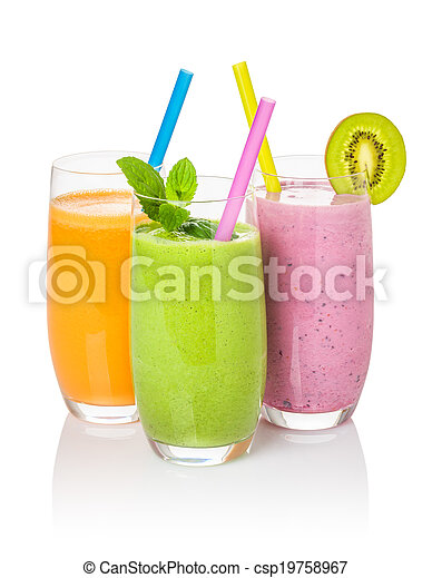 Smoothies from fruit and vegetables - csp19758967