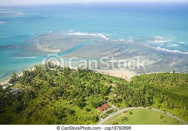 Aerial view of Northeast Puerto Rico - csp19760898