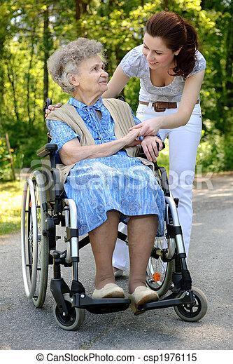 images de personne agee femme fauteuil roulant personne agee csp1976115 recherchez des. Black Bedroom Furniture Sets. Home Design Ideas