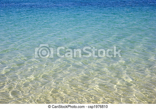 Turquoise seascape. Beauty in nature wallpaper. - csp1976810