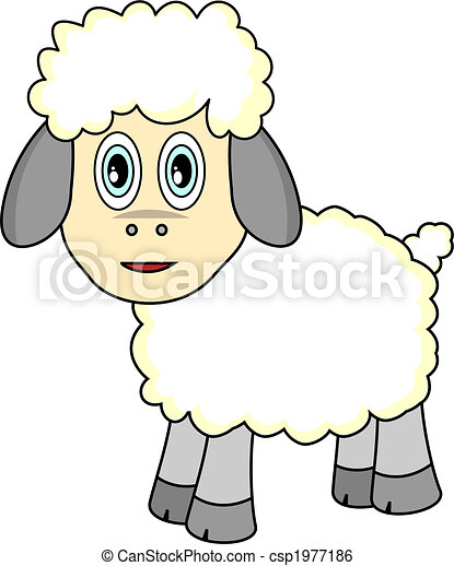 Cute Looking Sheep - csp1977186