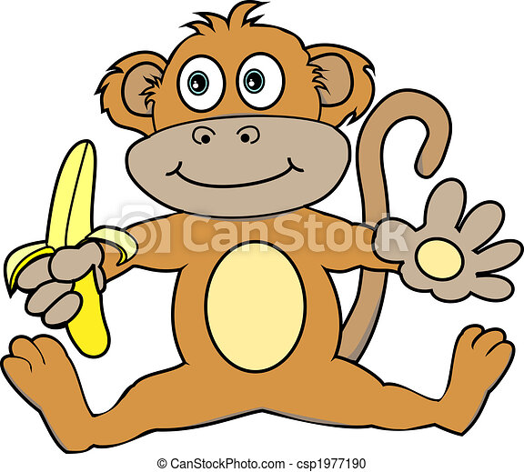 Monkey with a banana - csp1977190