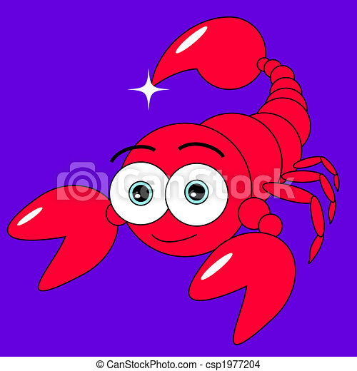 EPS Vector of cute scorpion csp1977204 - Search Clip Art ...