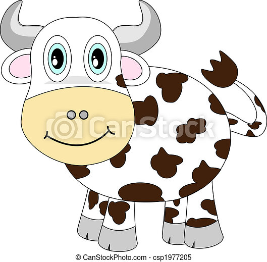 Cute Cartoon Cow - csp1977205