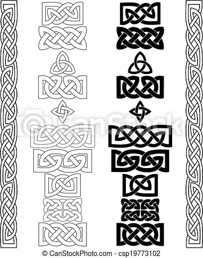 Celtic knots, patterns, frameworks vector - csp19773102