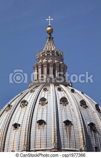 Michaelangelo\\\'s Dome Saint Peter\\\'s Basilica Vatican Rome Italy  - csp1977366