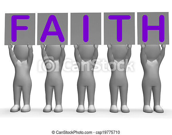 Faith Banners Shows Belief And Religion - csp19775710