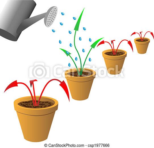 Arrows in flowerpots - csp1977666