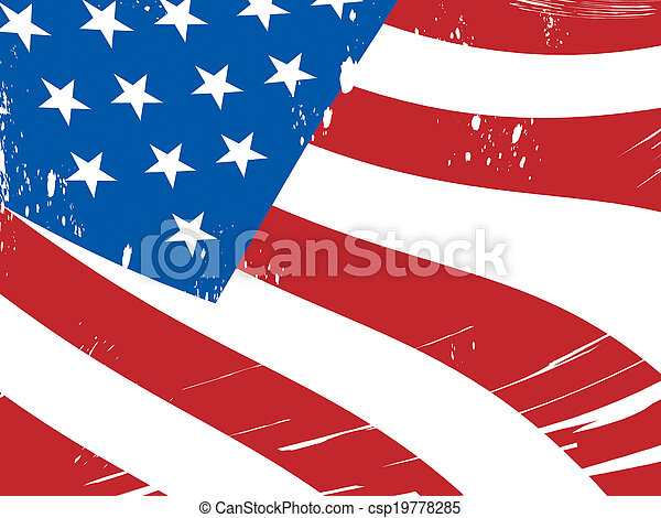 American Flag Background Means Freedom Government And Military - csp19778285