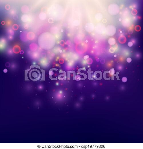 Purple Abstract Backdrop Bokeh Background - csp19779326