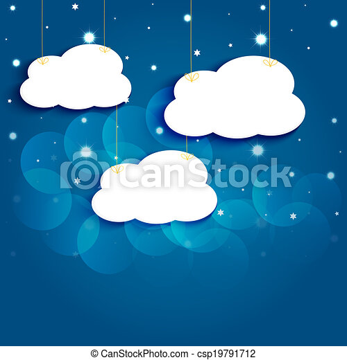 Cloud Cartoon Drawing Cartoon Stars And Clouds in