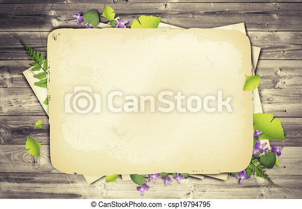 Scrapbooking Natural Background - csp19794795
