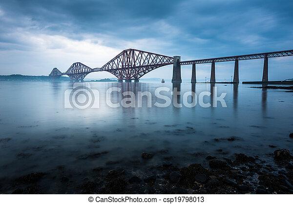Forth bridges in Edinburgh, Scotland - csp19798013