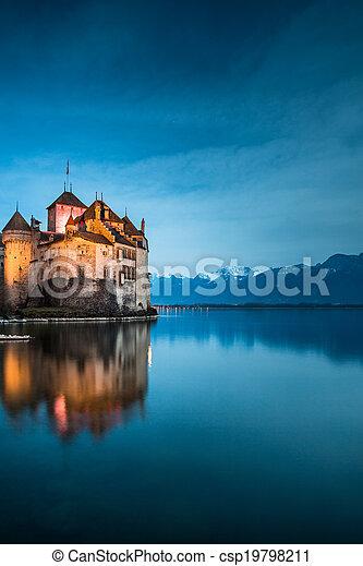 The Chillon Castle at the Lake Geneva - csp19798211