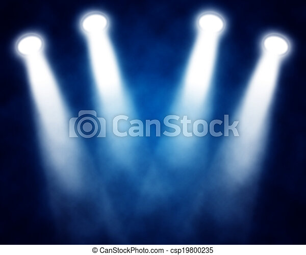 azul, proyectores, ilustración, etapa - csp19800235