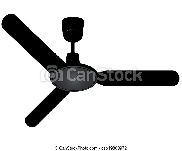 Vectors Illustration Of Ceiling Fan On A White Background
