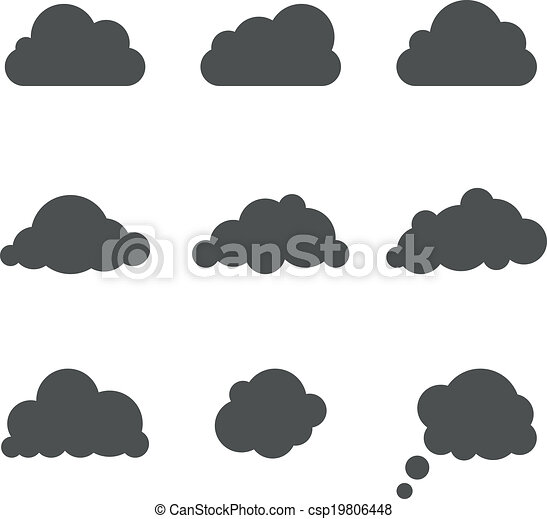 Cloud Shapes Drawing Black And White Cloud Shapes