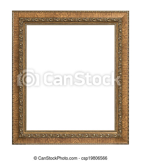 antique picture frame  - csp19806566
