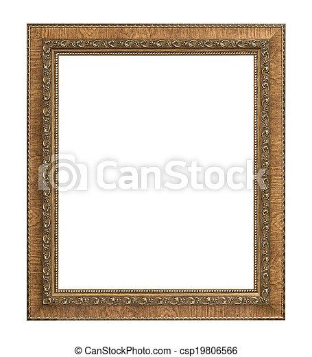 antique picture frame  - csp19806566