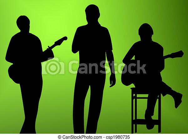 musician silhouette - csp1980735
