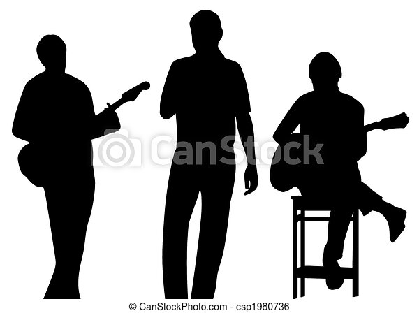 Stock Illustration of musician silhouette - musician (player, singer ...