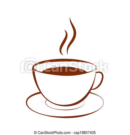 vector clipart of cup of hot drink  coffee  tea  cocoa teacup clipart images tea cup clip art black and white