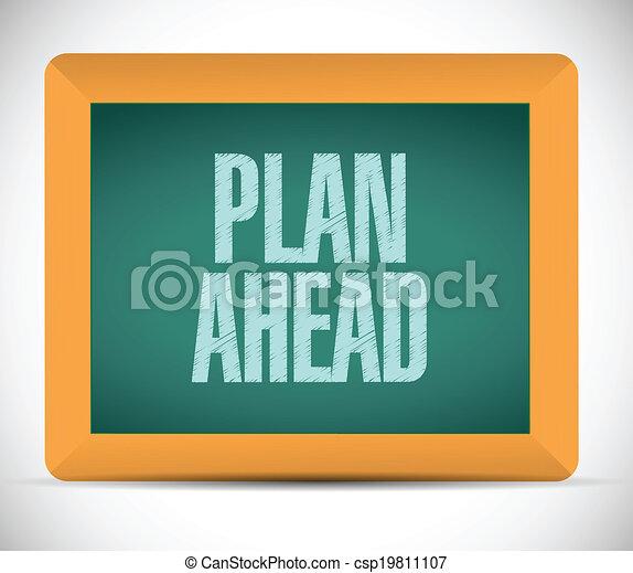plan ahead message illustration design - csp19811107