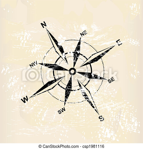 distressed compass rose - csp1981116