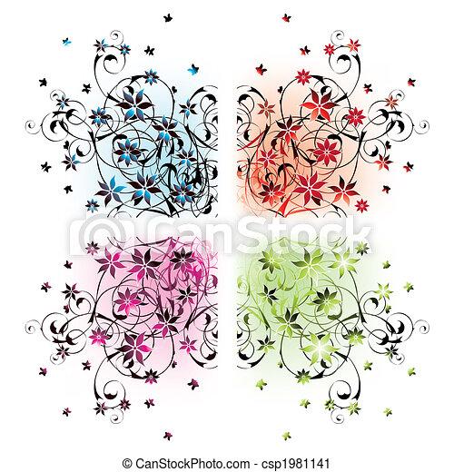 floral corners - csp1981141