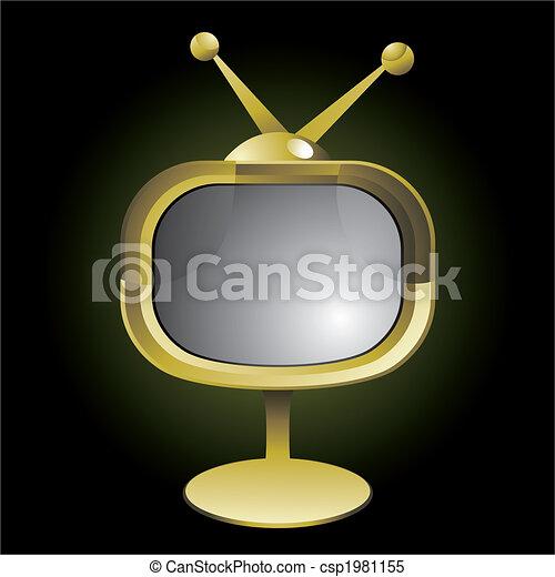 retro TV set - csp1981155