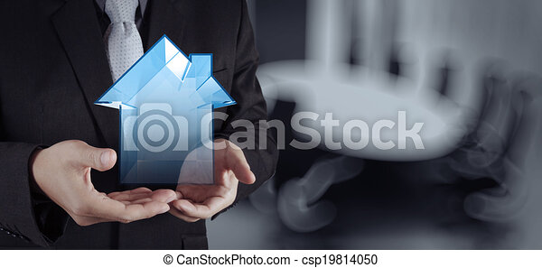 businessman hand working with new modern computer show social network structure as concept - csp19814050
