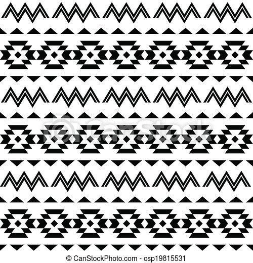 Vectors of Tribal pattern, Aztec background - Vector folk Aztec ...