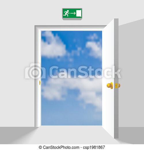 Door to the sky - csp1981867