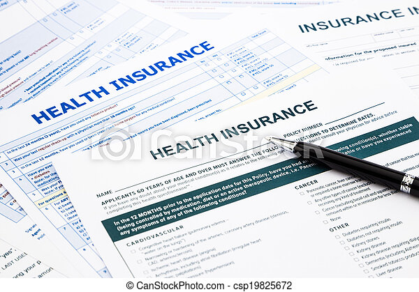 health insurance form - csp19825672