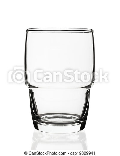 Empty glass isolated on white background - csp19829941