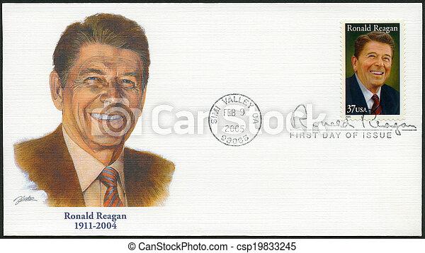 USA - 2005: shows Ronald Reagan (1911-2004), 40th President - csp19833245