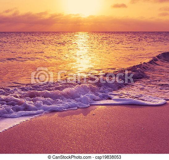 Sea sunset - csp19838053