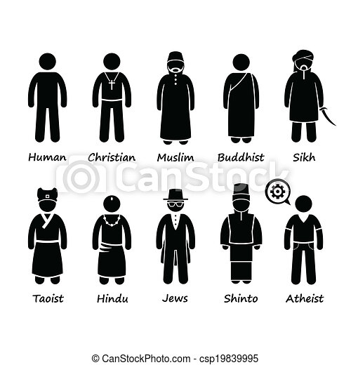 Religion People Cliparts Icons - csp19839995