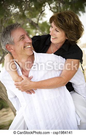 Beautiful mature couple in love - csp1984141