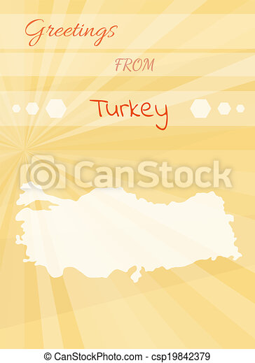 Vectors illustration of greetings from turkey yellow greetings greetings from turkey csp19842379 m4hsunfo