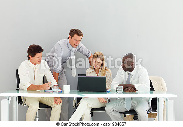 Business people interacting in a meeting - csp1984657