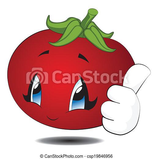 Vecteur clipart de kawaii tomate dessin anim cartoon kawaii tomato csp19846956 - Tomate dessin ...