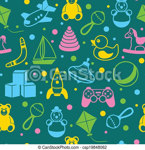 Toys seamless pattern - csp19848062