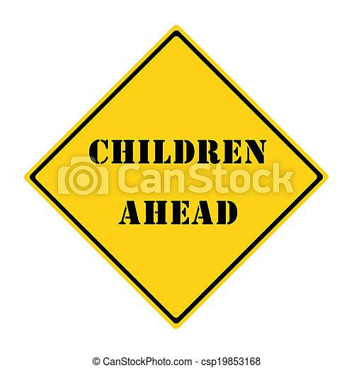 Children Ahead Sign - csp19853168