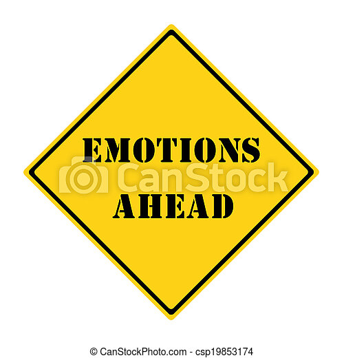 Emotions Ahead Sign - csp19853174