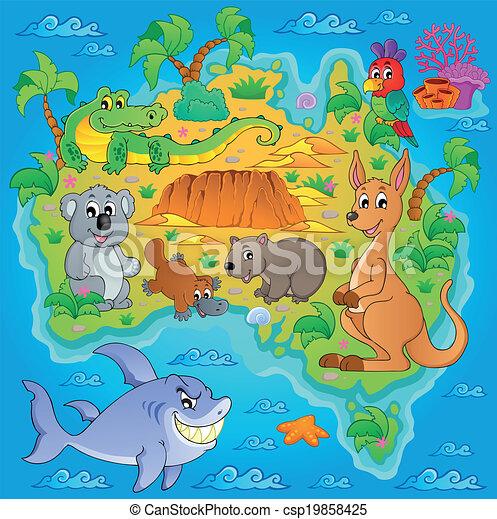 vektor illustration von 1  landkarte  australische  thema australian clip art explorers australia clip art images
