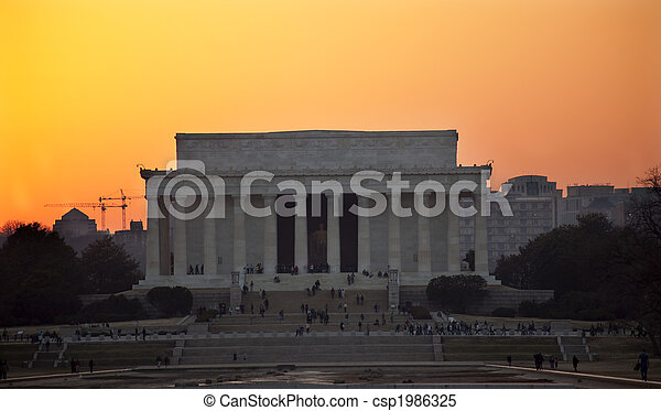 Lincoln Memorial Washington DC Sunset - csp1986325